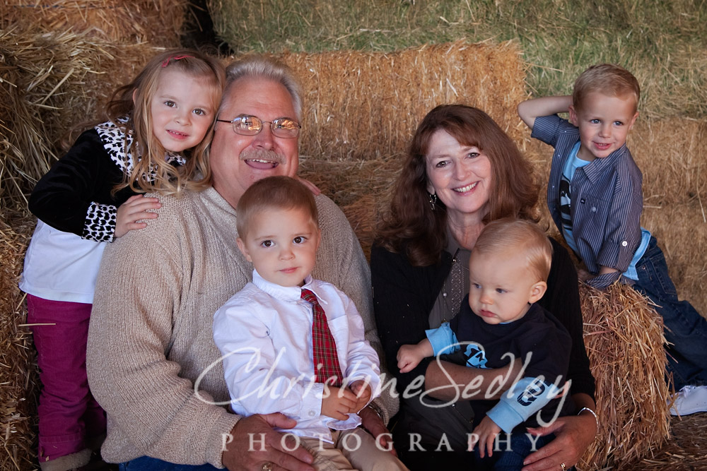 Surrounded by Grandchildren - So sweet!