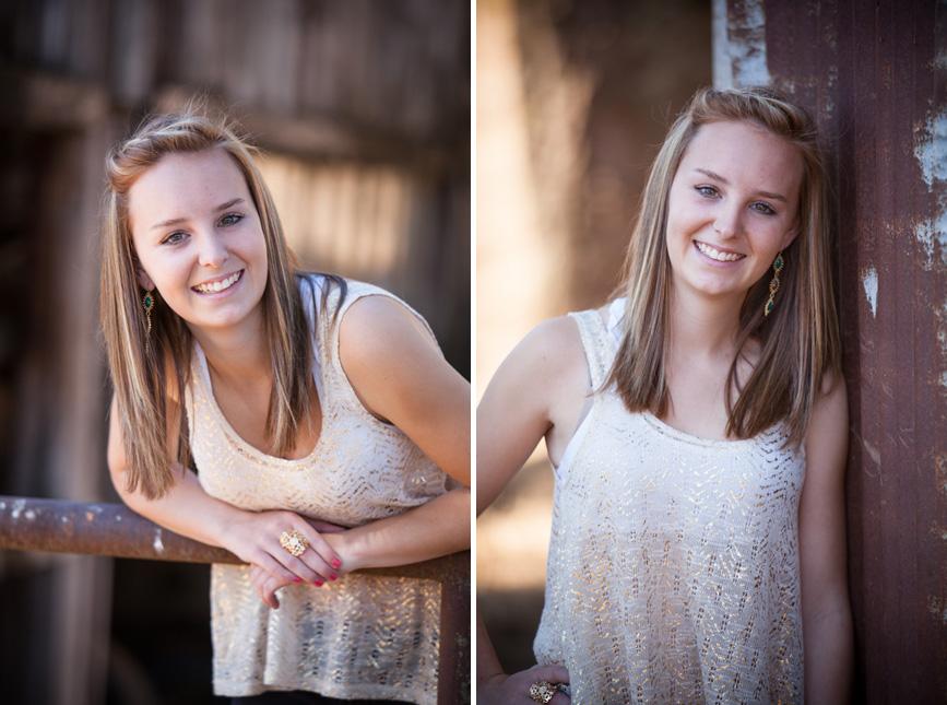 Country girl senior portrait session