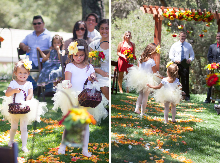 flower girls tutus rose pedals