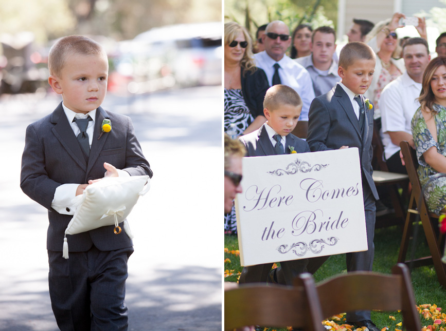 here comes the bride sign wedding ideas with ring bearer