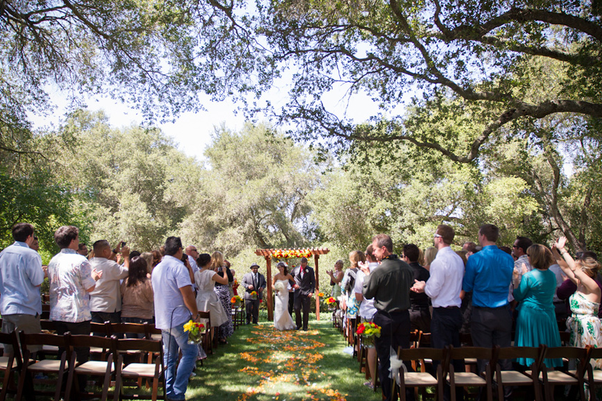 wedding under oak trees california central coast atascadero