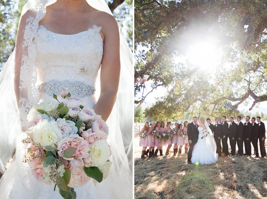 bridal bouquet, bride holding flowers, country wedding, christine sedley photography, paso robles wedding photographer